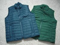 J.crew Mens Puffer Puffy Quilted Thinsulate Vest Coat Jacket Small Xs Green