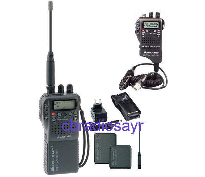 gifts_4_him Midland Alan 42 DS Multi Handheld CB Radio  - Authorised Dealer