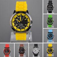 Unisex Rubber Silicone Jelly Gel Quartz Analog Watches Wrist Watch Men Women HOT