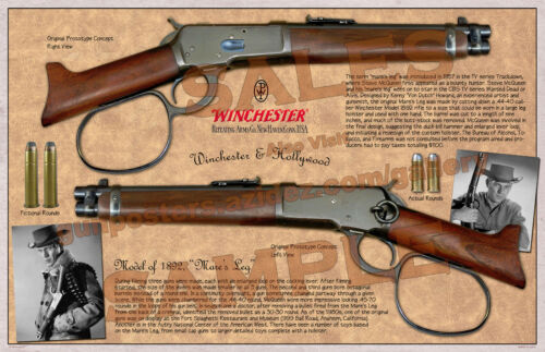 Winchester Mare's Leg Lever Action Model of 1892 Poster 11 x 17