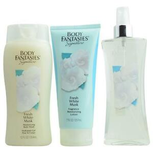 Body-Fantasies-Fresh-White-Musk-Body-Spray-8-oz-amp-Body-Lotion-7-oz-amp-Body-Wash-1