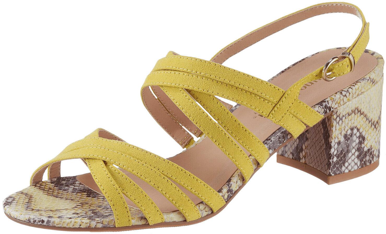 Bruno Banani Femmes Sandales Taille 40 Sandales Été Chaussures Jaune Nouveau