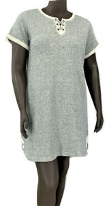 New-59-50-Value-STYLE-CO-plus-size-gray-heather-French-terry-dress-short-slv