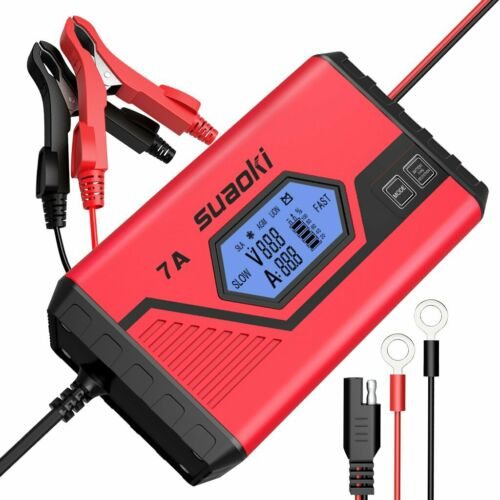 7A// 3.5A PKW SUAOKI ICS7 12V Batterie Ladegerät LCD Bildschirm für KFZ Auto,