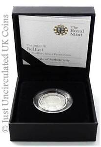 2010-Cities-of-UK-Belfast-Piedfort-1-One-Pound-Silver-Proof-Coin-COA