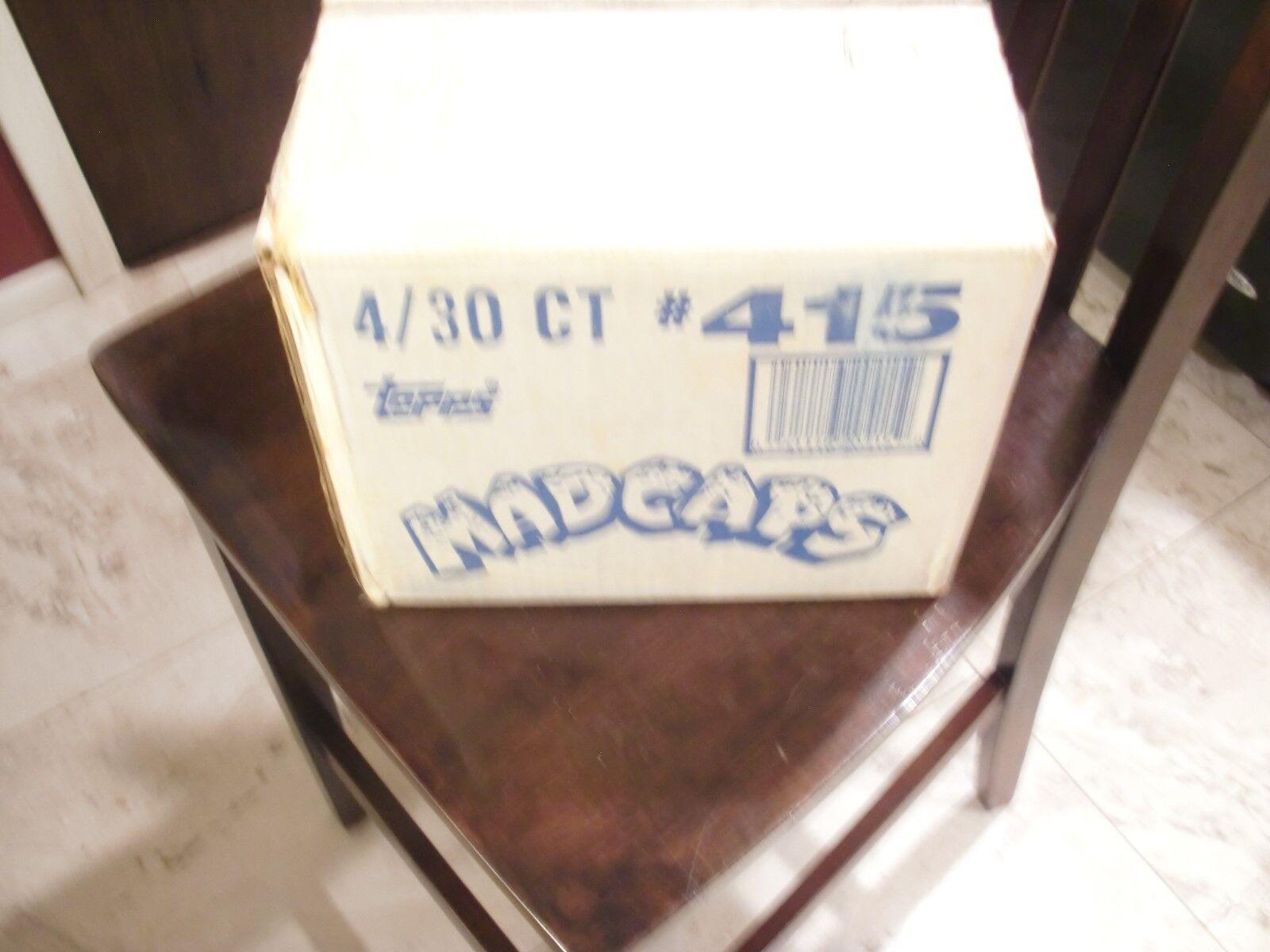 Tazos Milkcaps 1994 Topps Mad caps (Wacky Caps) caso de (4) Cajas Super Raro