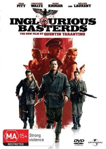 1 of 1 - Inglourious Basterds - DVD LIKE NEW FREE POSTAGE AUSTRALIA REGION 4