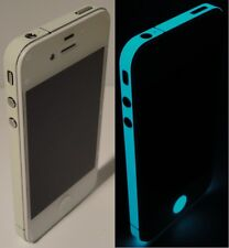 * Green BLUE * Glow in the Dark- For iPhone 4 Edge Wrap Decal Skin Sticker