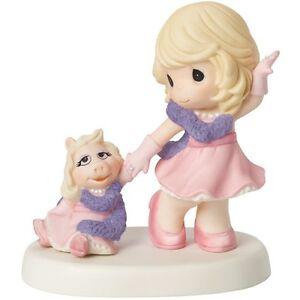 precious moments disney figurine muppet diva miss piggy pink purple