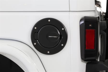 Smittybilt 75007 Black Billet Gas Cover for Jeep JK 2//4-Door
