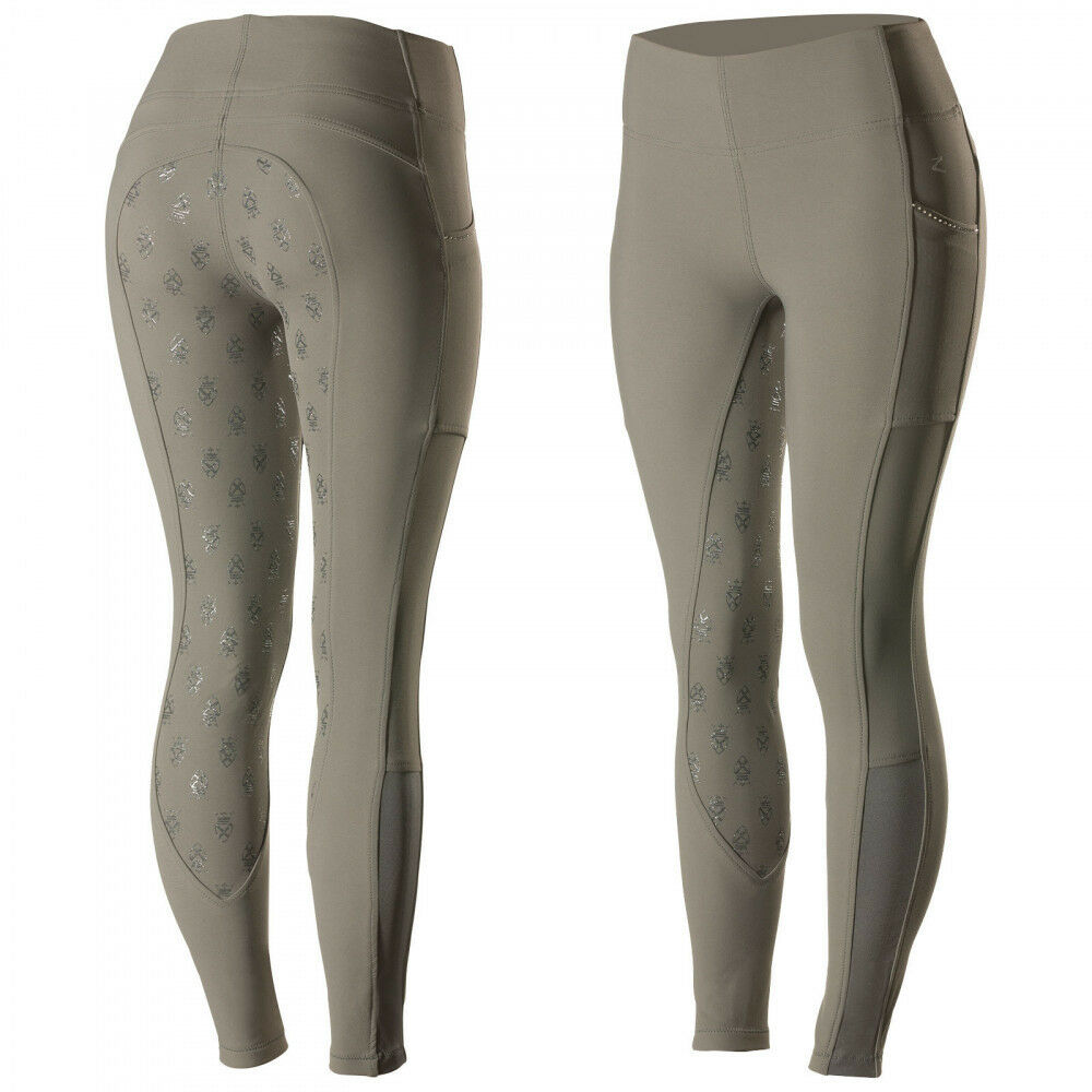 Horze Leah Women's Windproof All Season Riding Tights Mid-Rise Waist