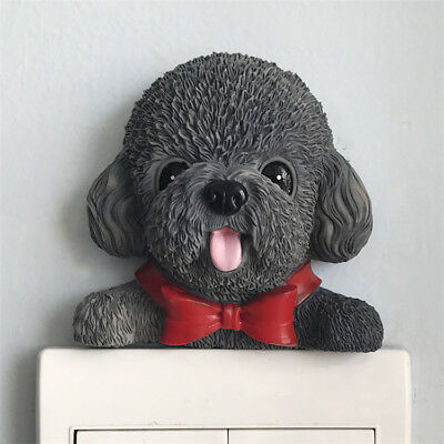 Blu Tack Stickers SOLID Chocolate Brown Poodle Dog Toy Figure Wall Light Switch