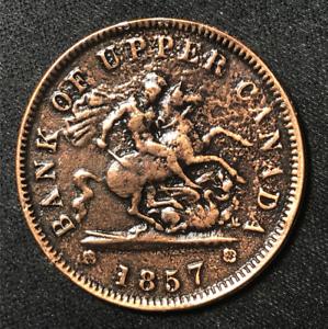 Canada 1857 One Penny Token Deux Sous PC-6D / Breton 719 Replica / J-093
