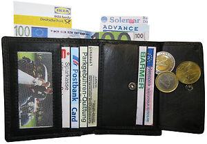 LEDER-Geldboerse-KIES-schwarz-8-4x10-4x1-9cm-10-EC-Faecher-Geldbeutel-Portemonnaie