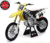 Ken Roczen Rch Rmz450 1:12 Die-cast Motocross Mx Toy Model Bike Ray Suzuki