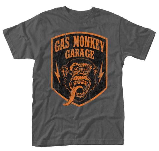 Gas Monkey Garage 'Shield' T-Shirt - Nuovo e Originale