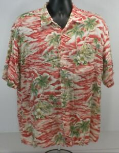 310427d46 Pierre Cardin Mens Button Front Shirt XL S/S Red White Green ...