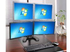 Vierfach Tisch Halterung LCD LED TV PC Monitor Bildschirm Ständer VESA 75 100