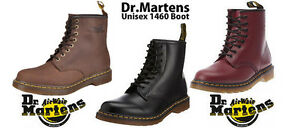 Dr-Doc-Martens-1460z-8-Eyelet-Boots-In-Black-Cherry-Red-Sizes-3-15