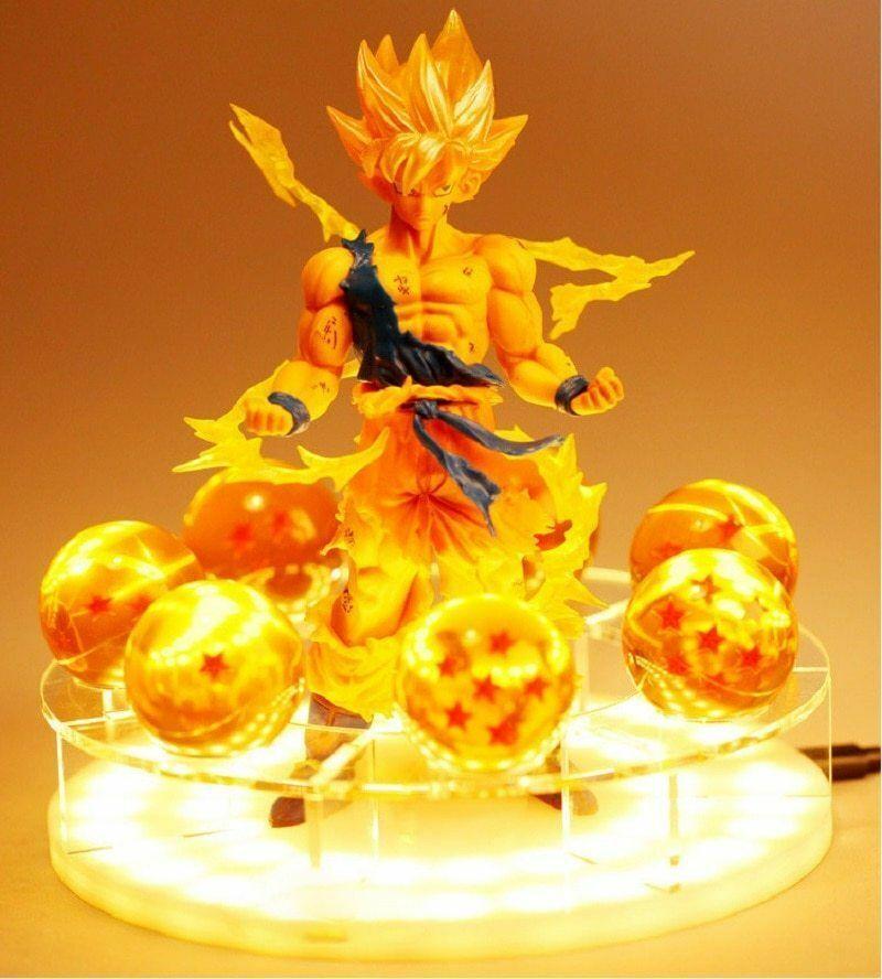 Dragon Ball Z Son Goku LED Table Lamp Spirit Bomb Night Light Japenese Collectib