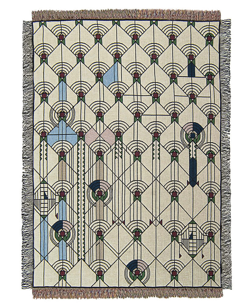 Frank Lloyd Wright April Showers Tapestry Throw