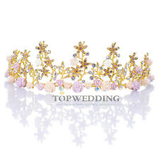 Floret Fairy Rhinestone Bridal Headpiece Veil Headband Wedding Crown Hair Tiara