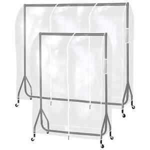 Charming Image Is Loading Hartleys Clear Clothes Rail Cover Hanging Garment Coat