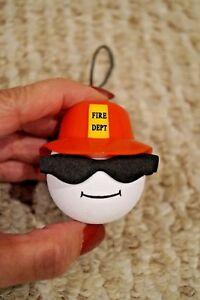 New Antenna Ball Christmas Ornament Fireman Fire Dept F A Credit