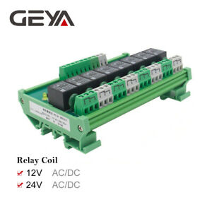 8-Channel-Interface-Relay-Module-12V-24V-DIN-Rail-Panel-Mount-for-Automation-PLC