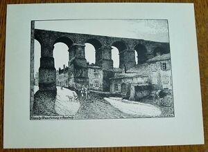 Jouy-aux-Arches-Gaudach-roemische-Wasserleitung-alte-Ansicht-Druck-ca-1920