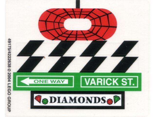 LEGO 4853 - SPIDERMAN - Spider-Man's Street Chase - STICKER SHEET