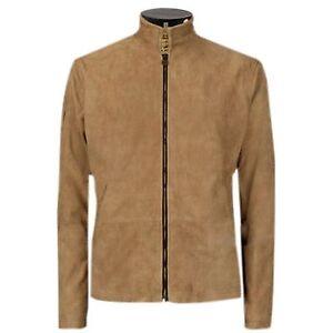 James-Bond-Brown-Suede-Daniel-Craig-Spectre-Morocco-Blouson-Men-039-s-Leather-Jacket