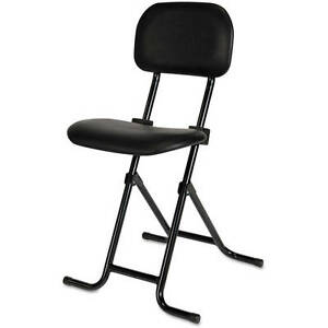 Amazing Details About Folding Stool With Back Adjustable Height Counter Black Metal Bar Shop Small Theyellowbook Wood Chair Design Ideas Theyellowbookinfo