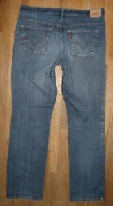 gt-gt-gt-LEVI-S-505-STRAIGHT-LEG-JEANS-Damen-LEVIS-in-blau-14-M-ca-W33-034-L32-034