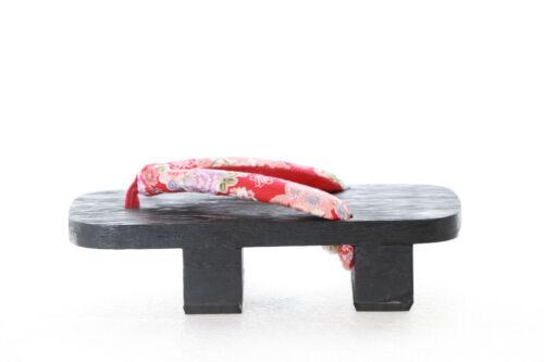 K-G-36-1 Rot Sakura Blume Geta Holz Zehentrenner Absatz hoch Sandale Tabi Geisha
