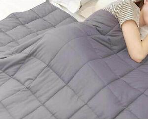 Weighted Blanket Insomnia Sleep Disorder Sensory Anxiety Throw Silver/Grey King