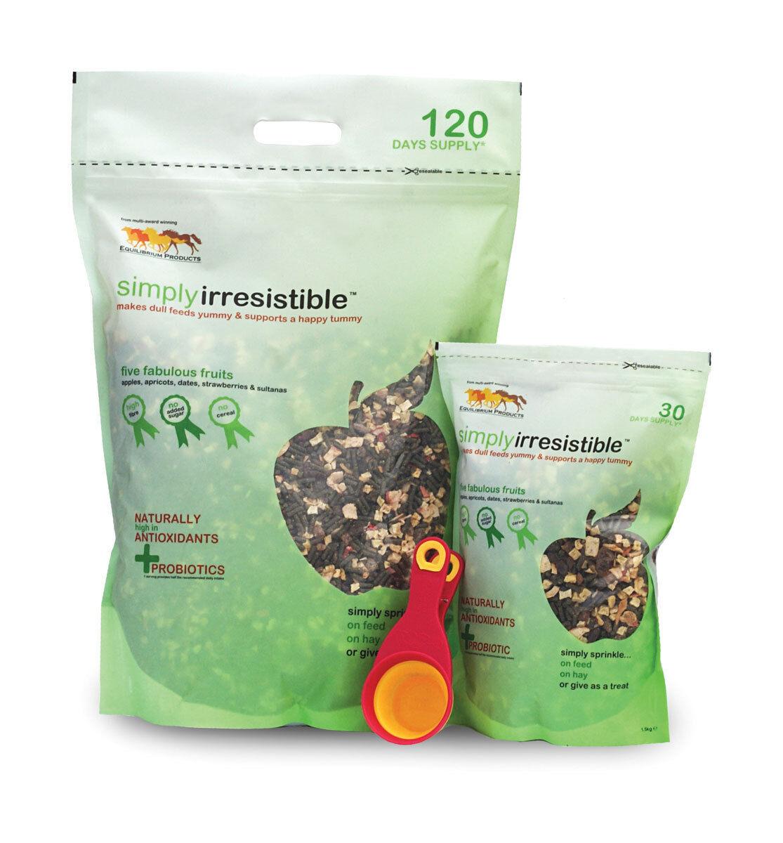 Equilibrium Simplyirresistible FRUIT Supplement Treat Probiotic 1.5kg or 6kg