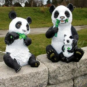 Gartendeko Berlin, set panda bÄren mit baby garten deko tier figur bambus china, Design ideen