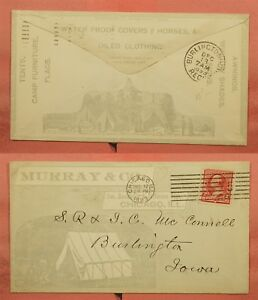 1893 MURRAY & CO TENTS CAMP FURNITURE ALLOVER ADVERTISING ...