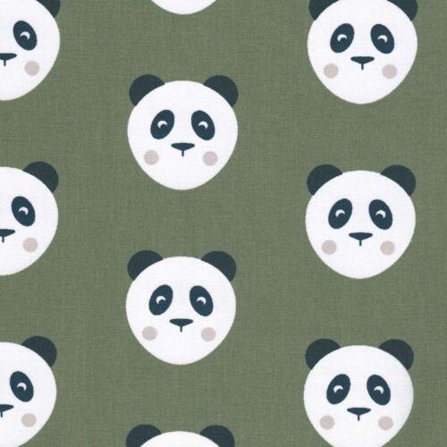 Khaki Panda-caqui-tela de algodón niños Quilting Confección