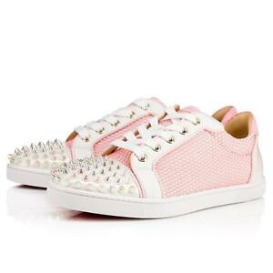 bf9e14ad851 Image is loading Christian-Louboutin-GONDOLITA-Spiked-Studded-Mesh-Low-Top-