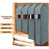 Suit Dress Clothes Garment Protector Dustproof Cover Home Storage Bag, 3 Sizes