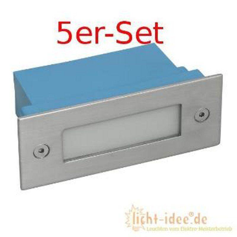 Led Wandeinbauleuchten Treppenleuchten Edelstahl Einbaustrahler LED Spot 5er-Set