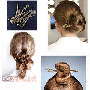 Natural Wooden Hair Sticks Chinese Traditional Hair Clip Vintage Hairpin Fashion