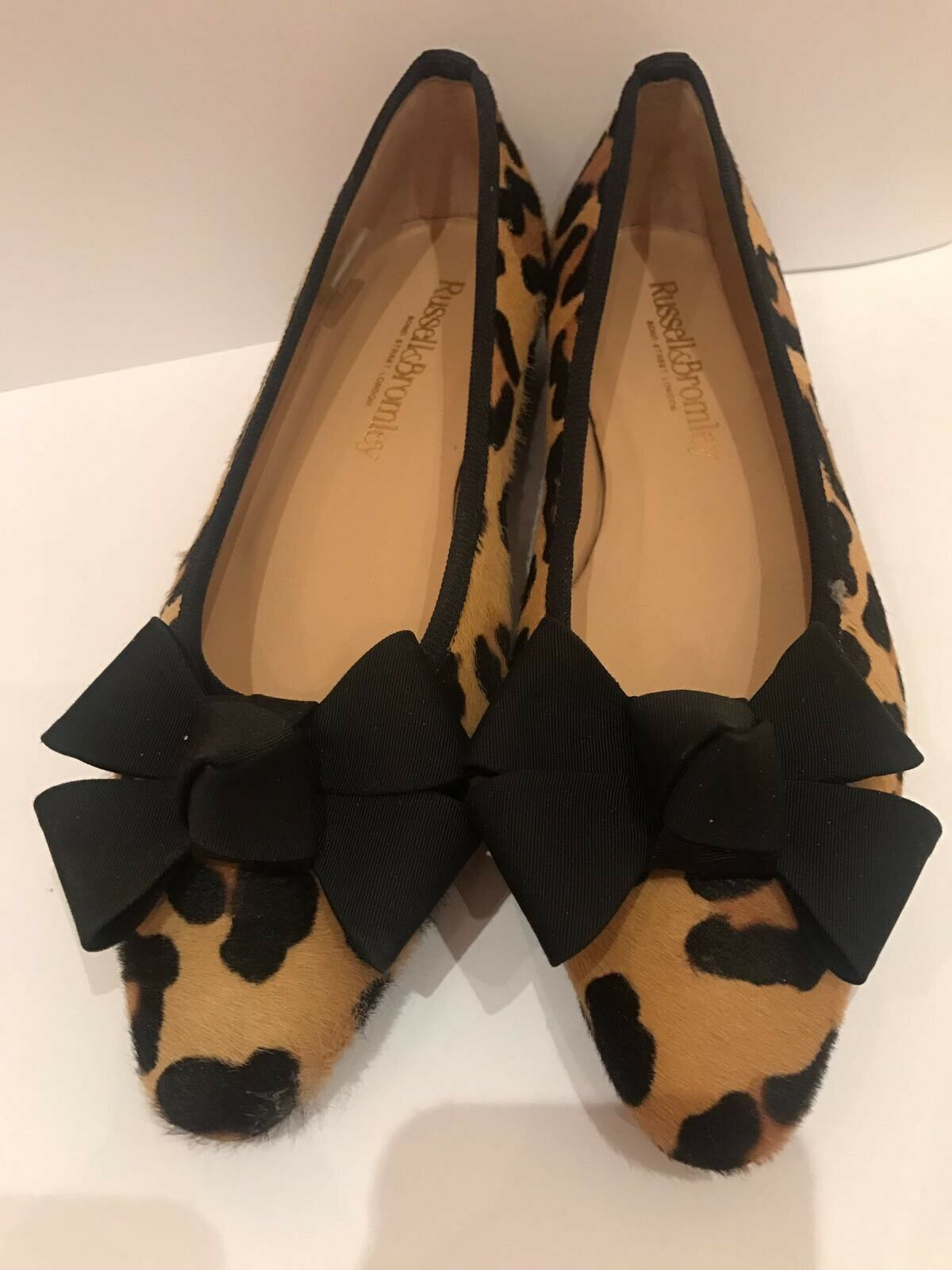 Russell & Bromley Leopardato a Punta Scarpe Basse