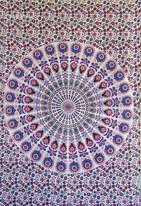 Yoga-Yogi-Tribal-Mandala-Tapestry-Wall-Hanging-Hippie-Throw-Bohemian-Bedspread