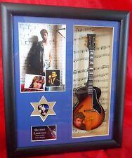 George Michael Miniature Framed Guitar/Plectrum Presentation
