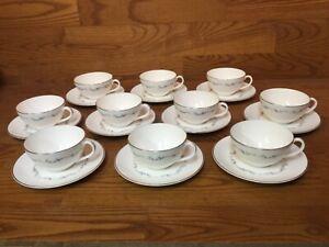 Royal-Doulton-Coronet-H4947-Cup-amp-Saucers-10-Sets-Excellent