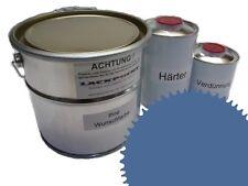 1,5 Set Litre 2K Revêtement de sol RAL 5014 Bleu Glanz Peinture de sol Atelier