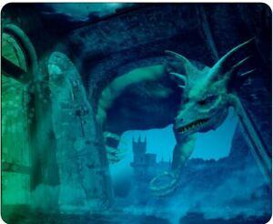 Dragon Moonlight Attack Fantasy Art Mousepad